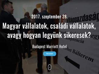 Magyar vállalatok, családi vállalatok – Hogyan legyünk sikeresek? című konferencia a Világgazdaság szervezésében